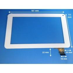 "vitre  7"" POLAROID MIDC407 (16889) blanche"