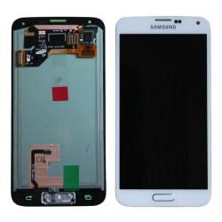 Ecran Samsung S5 bleu