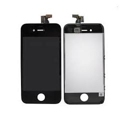 ECRAN IPHONE 4 4S NOIR LCD RETINA VITRE TACTILE SUR CHASSIS NOIR